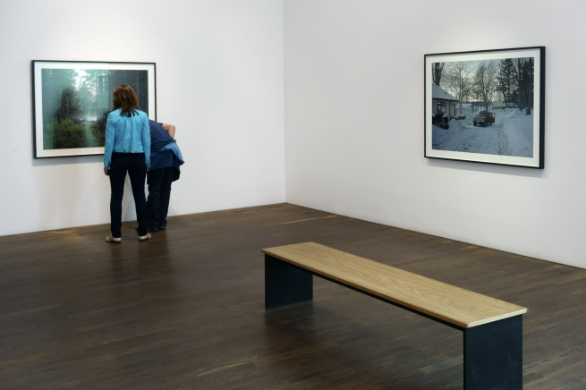 Installation view of Room 1 of 'Gregory Crewdson: Cathedral of the Pines' at The Photographers' Gallery