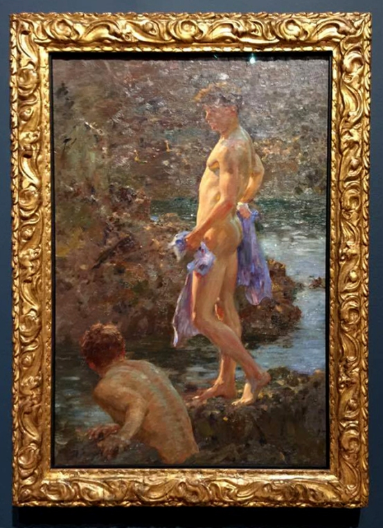 Installation view of Henry Scott Tuke's 'A Bathing Group' 1914
