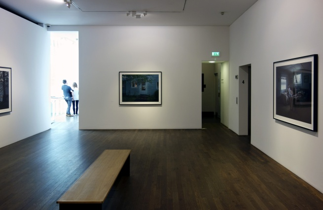 Installation view of Room 2 of'Gregory Crewdson: Cathedral of the Pines' at The Photographers' Gallery
