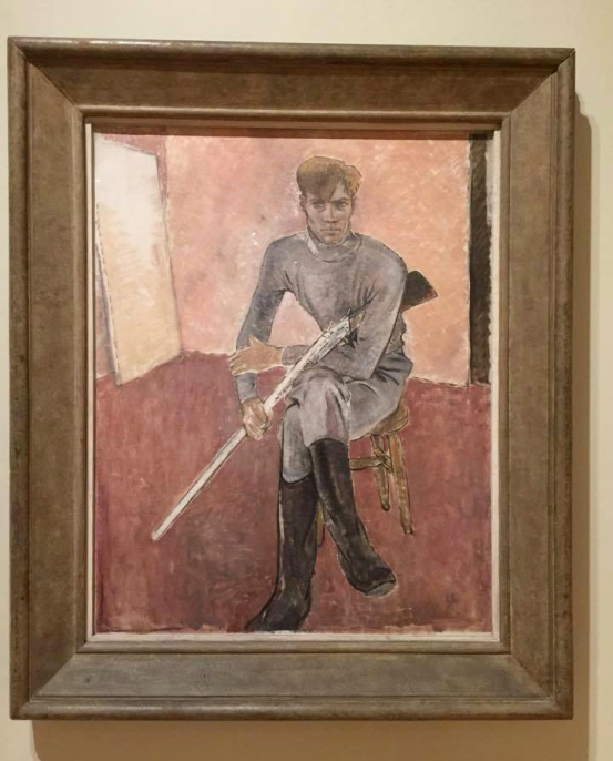 Glyn Warren Philpot (1884-1937) 'Man with a Gun' (installation view) 1933