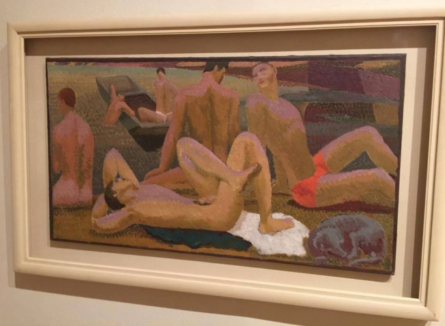 Duncan Grant (1885-1978) 'Bathers by the Pond' (installation view) 1920-21