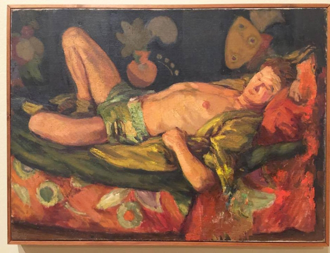 Duncan Grant (1885-1978) 'Paul Roche Reclining' c. 1946