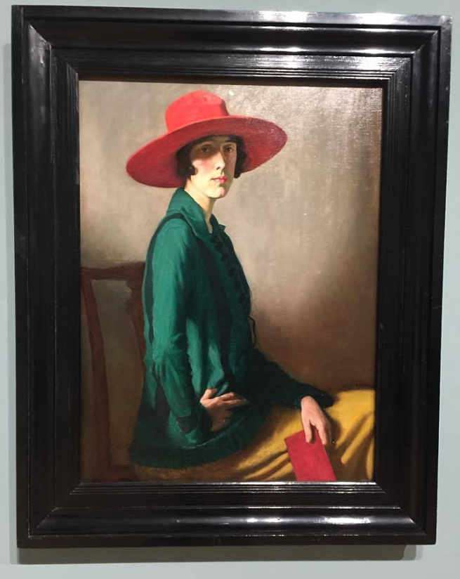 Installation view of William Strang's 'Lady with a Red Hat' 1918