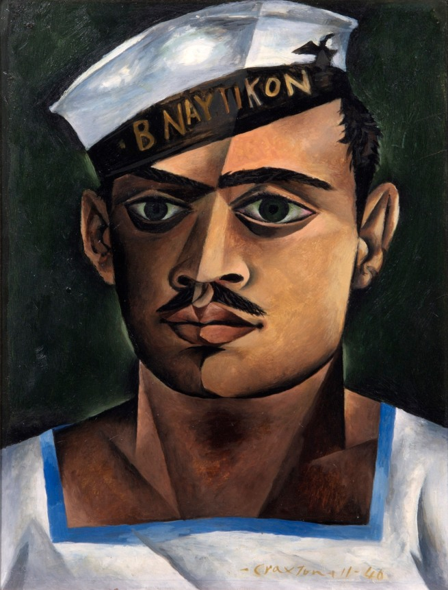 John Craxton (1922-2009) 'Head of a Cretan Sailor' 1946