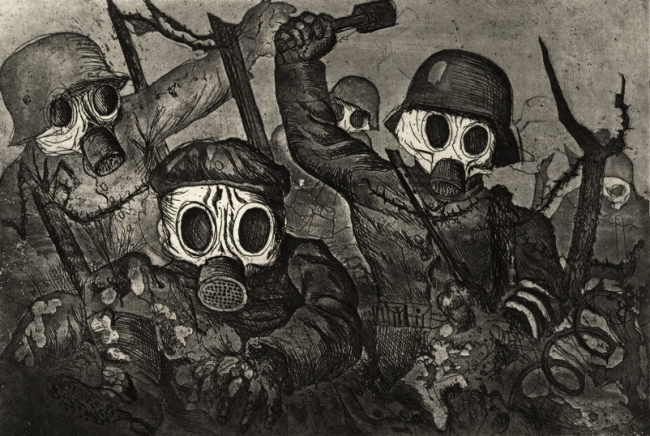 Otto Dix (1891-1969) 'Assault Troops Advance under Gas (Sturmtruppe geht unter Gas vor) '1924