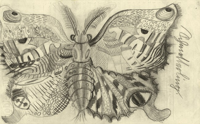 Otto Dix (1891-1969) 'Butterfly' 1922