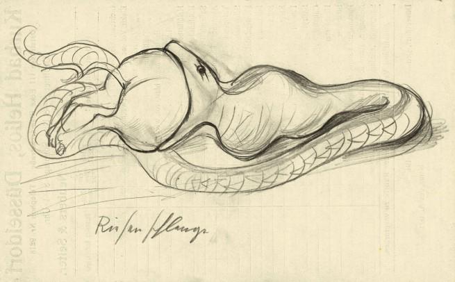 Otto Dix (1891-1969) 'Giant Snake' 1922