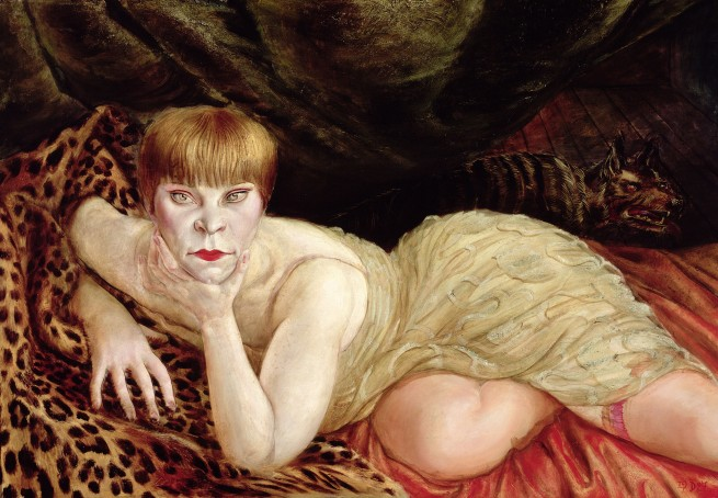Otto Dix (1891-1969) 'Reclining Woman on a Leopard Skin' 1927