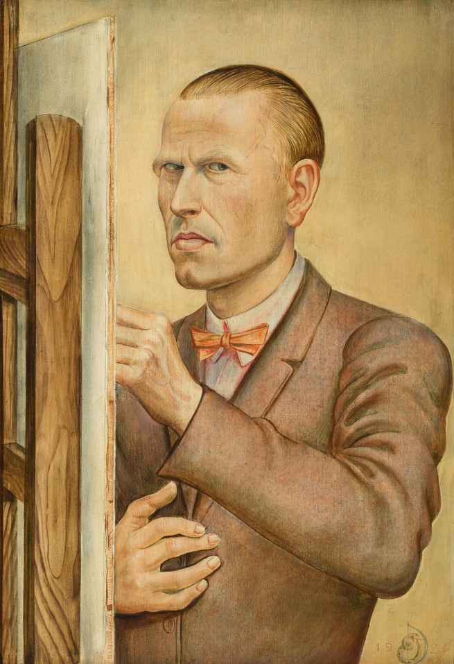Otto Dix (1891-1969) 'Self-Portrait with Easel' 1926