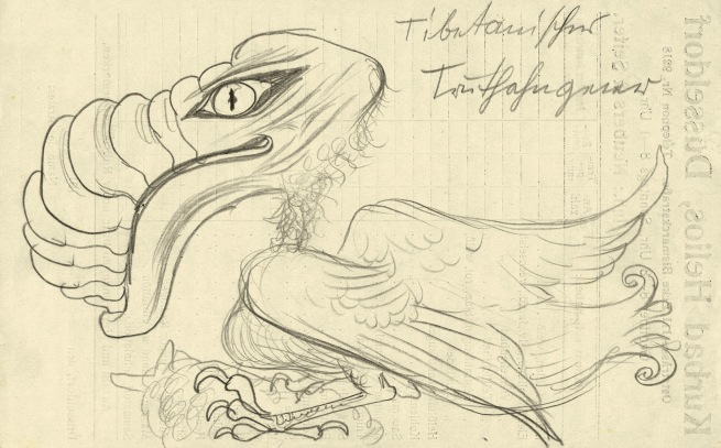 Otto Dix (1891-1969) 'Tibetan Turkey Vulture' 1922