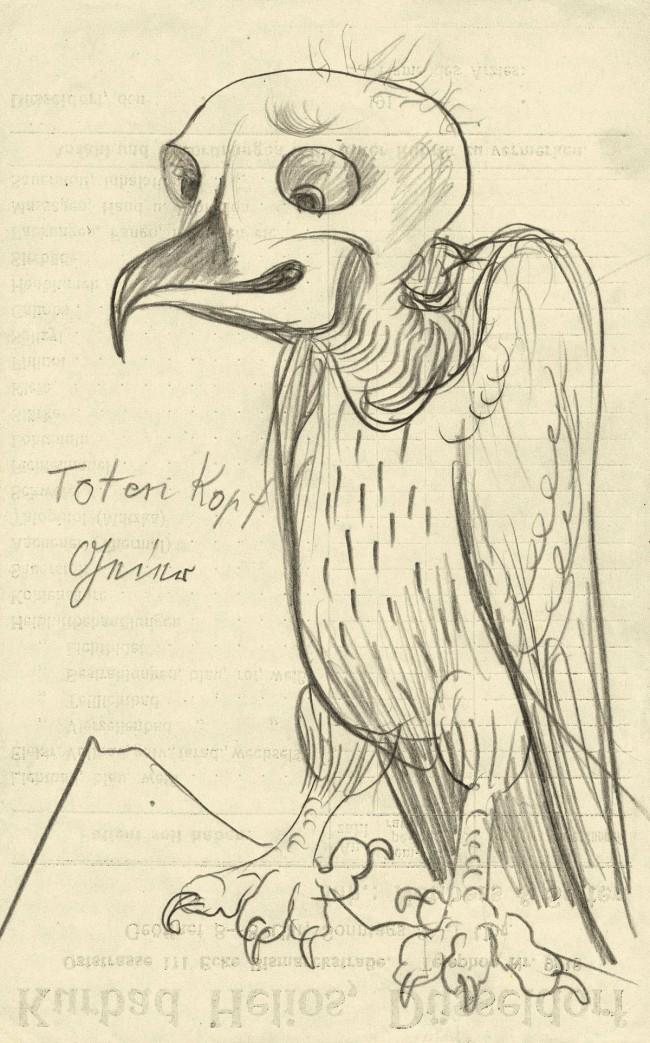 Otto Dix (1891-1969) 'Vulture Skull' 1922