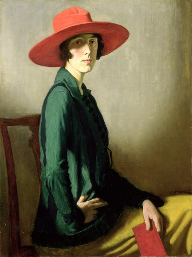 William Strang. 'Lady with a Red Hat' 1918