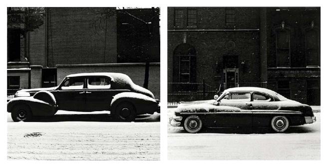 Yasuhiro Ishimoto. 'Chicago, Snow and Car' 1948-1952