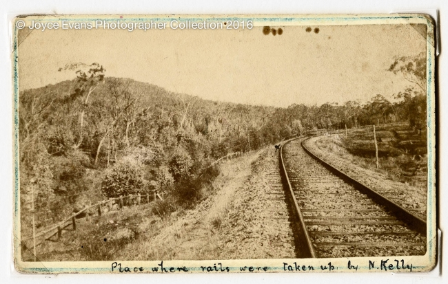 Unknown photographer. 'Place where rails were taken up by Kelly gang' 1880