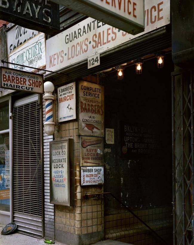Wayne Sorce. 'Barbers, New York' 1985