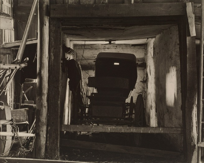 Charles Sheeler (American, 1883-1965) 'Buggy, Doylestown, Pennsylvania' Negative date: 1917