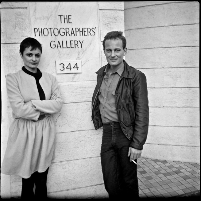 Jeff Busby. 'Untitled [William Heimerman and friend outside the Photographers Gallery (344)]' c. 1978