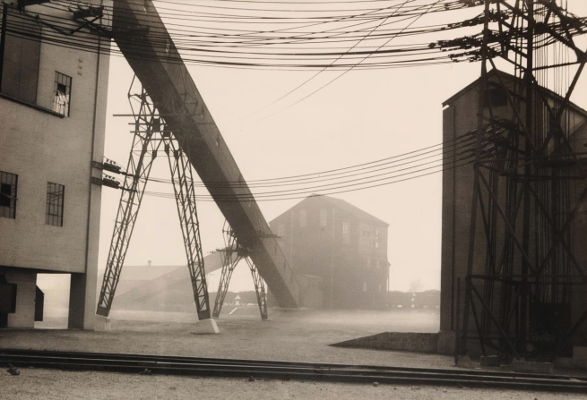 Harold Cazneaux (New Zealand 1878 - Australia 1953, Australia from 1886) 'No title (Powerlines and chute)' c. 1935