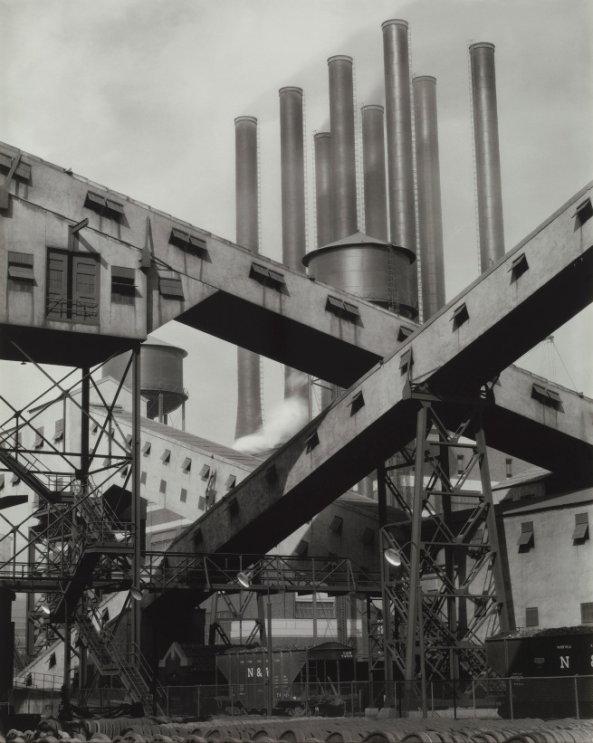Charles Sheeler (American, 1883-1965) 'Ford Plant - Criss-Crossed Conveyors' 1927
