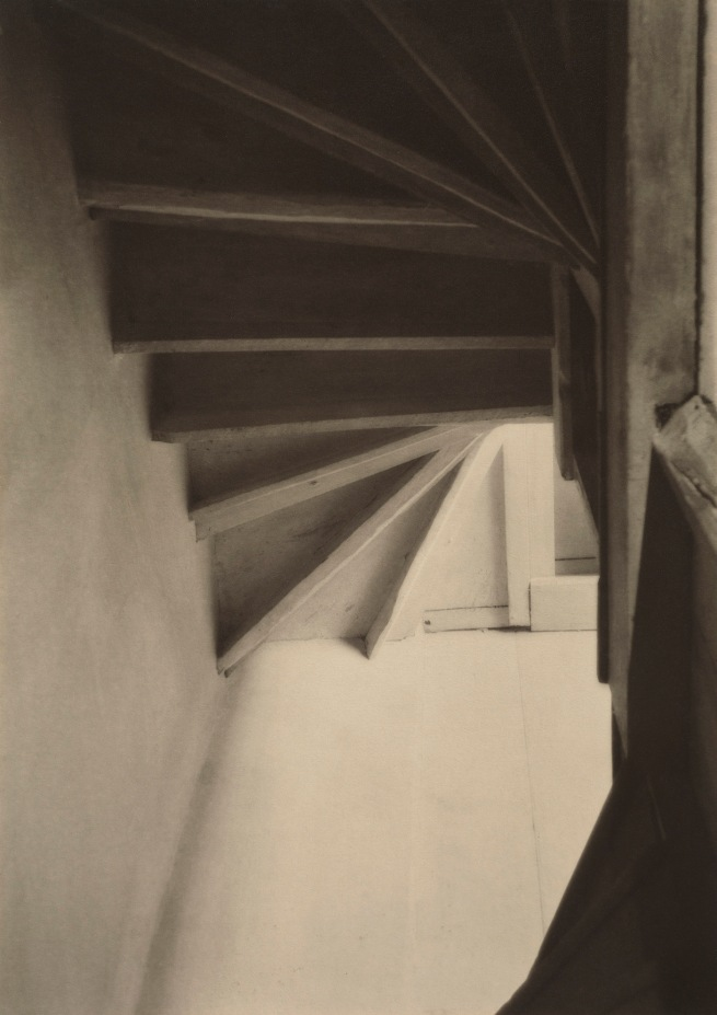 Charles Sheeler (American, 1883-1965) 'Doylestown House - Stairs from Below' Negative date: about 1916-1917