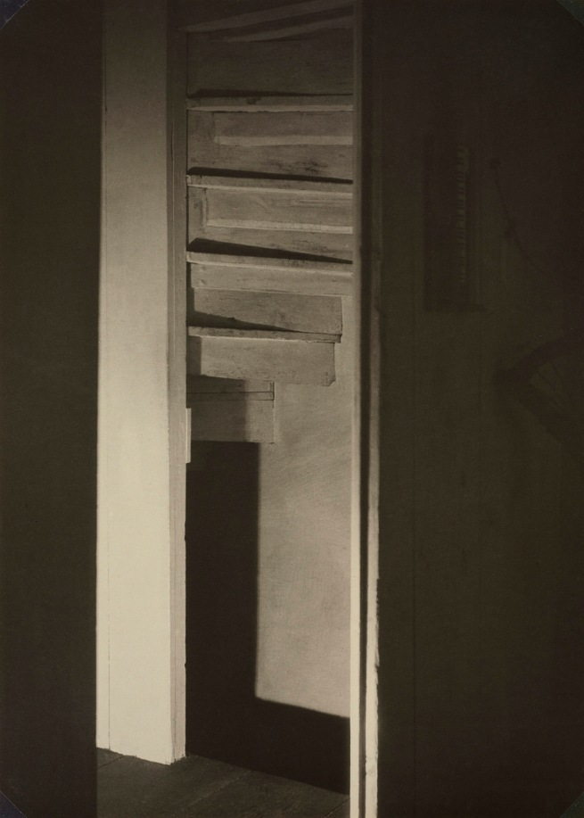 Charles Sheeler (American, 1883-1965) 'Doylestown House - Stairwell' Negative date: about 1916-1917