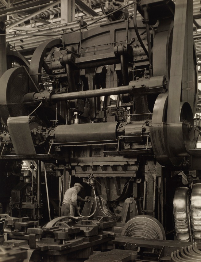 Charles Sheeler (American, 1883-1965) 'Ford Plant - Stamping Press' Negative date: 1927