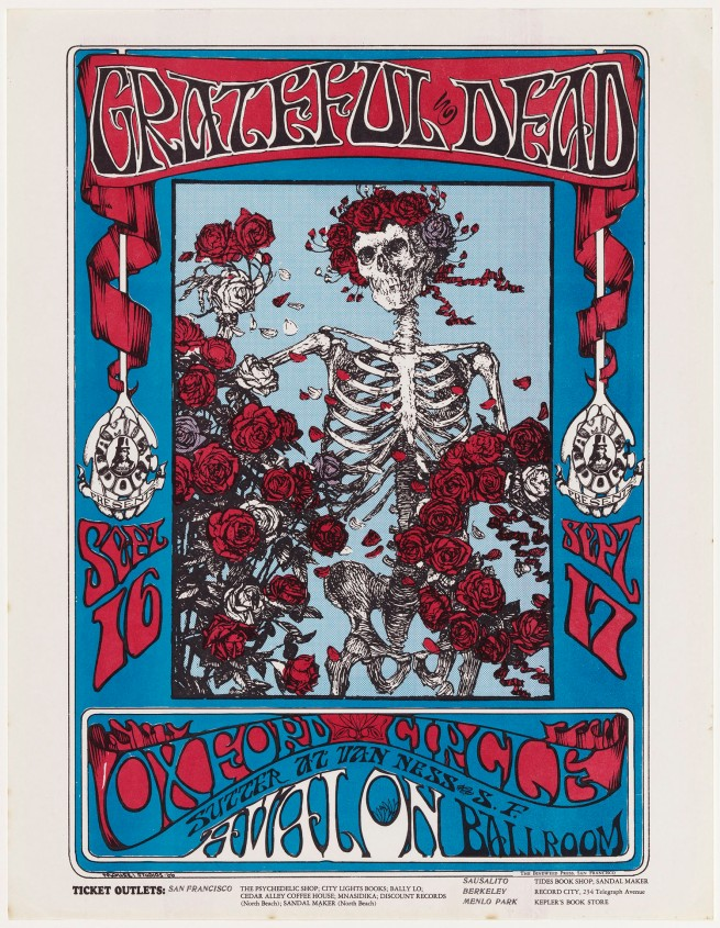 Stanley Miller (Mouse) (American, born in 1940) and Alton Kelley (American, 1940-2008) 'Grateful Dead, Oxford Circle (Avalon Ballroom, 16-17 September 1966)' 1966