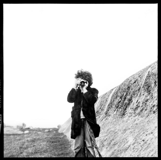 William Heimerman. 'Untitled [Carol Jerrems looking through her camera, Dog Rocks near Geelong]' c. 1975-80