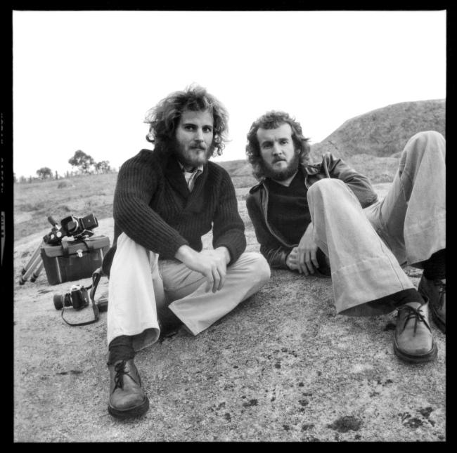 Carol Jerrems. 'Untitled [Bill Heimerman and Ian Lobb at the Dog Rocks near Geelong]' 1975