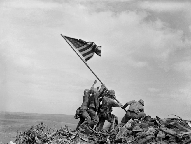 Joe Rosenthal (1911-2006) 'Raising the Flag on Iwo Jima' 1945