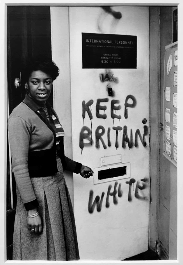 Neil Kenlock (born 1950) ''Keep Britain White' graffiti, Balham' 1972, printed 2010