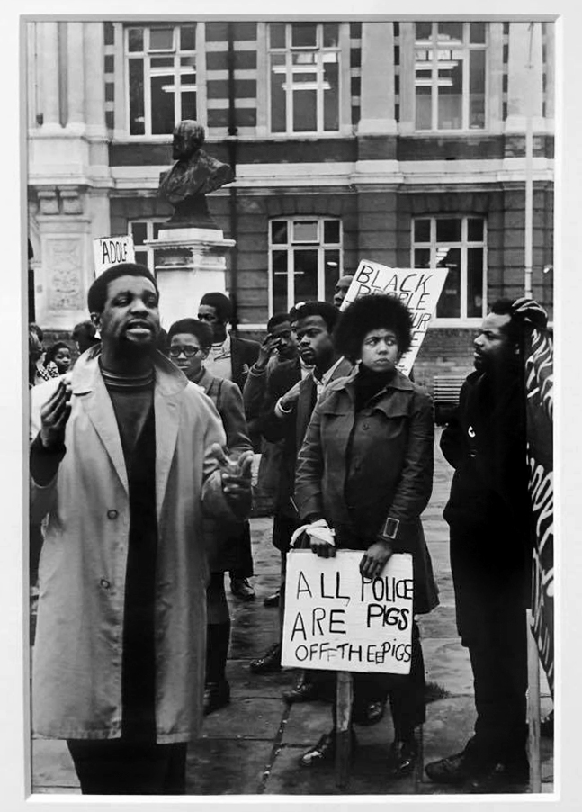 Neil Kenlock (born 1950) 'Demonstration outside Brixton Library' 1972, printed 2010