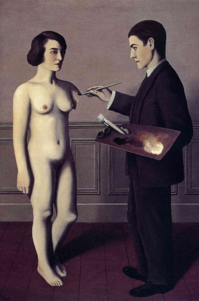René Magritte (1898-1967) 'Attempting the Impossible' 1928