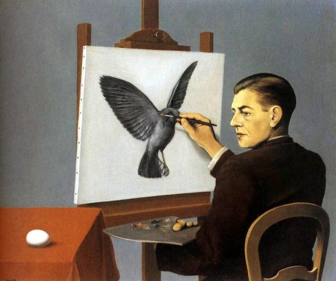 René Magritte (1898-1967) 'Clairvoyance' 1936