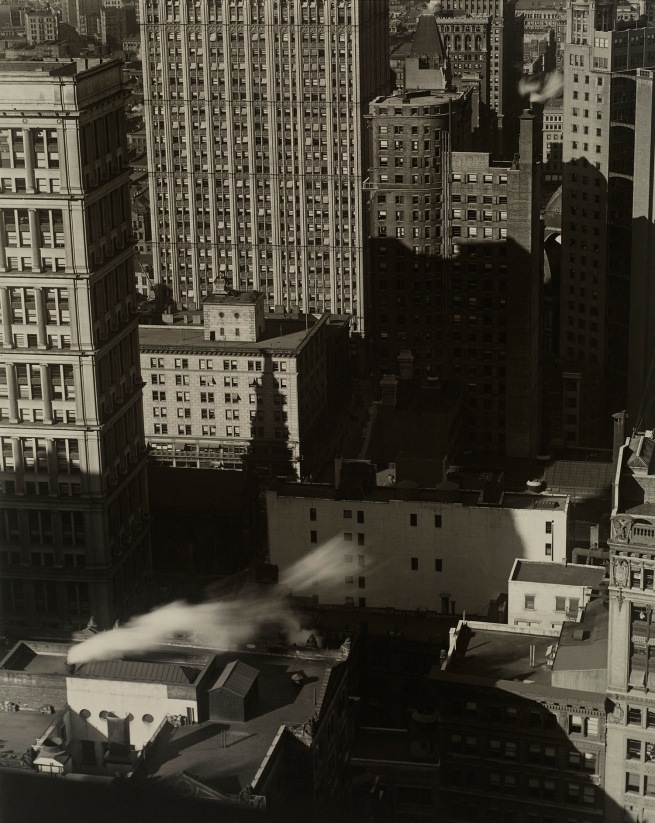 Charles Sheeler (American, 1883-1965) 'New York, Buildings in Shadows and Smoke' Negative date: 1920