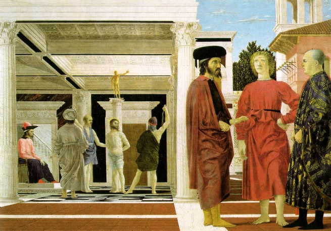 Piero della Francesca (1415-1492) 'Flagellation of Christ' 1455-1460