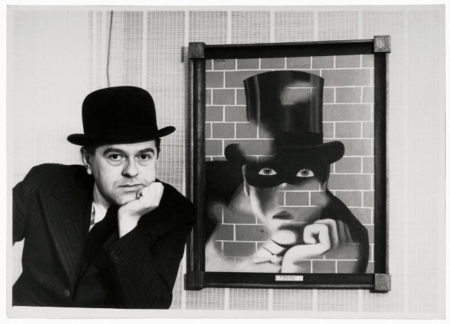 Unknown photographer. 'René Magritte and The Barbarian (Le Barbare)' 1938