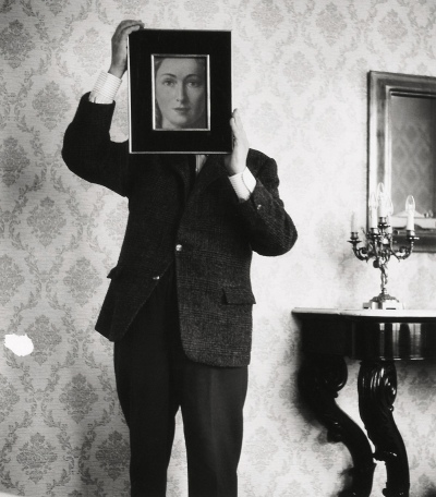 Shunk Kender. 'René Magritte and The Likeness (La Resemblance)' about 1962