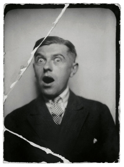 René Magritte (1898-1967) 'Flirtatiousness (La coquetterie), René Magritte at the Jardin des Plantes, photo-booth photo' 1929
