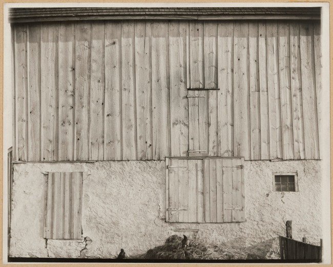 Charles Sheeler (American, 1883-1965) 'Side of White Barn, Bucks County, Pennsylvania' 1915