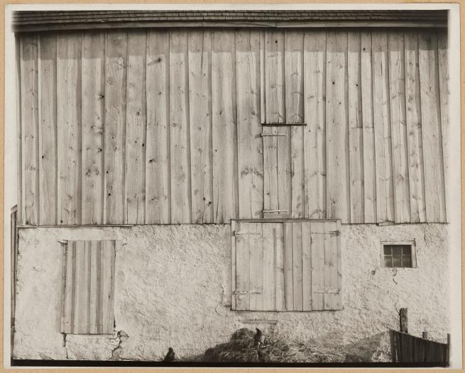 Charles Sheeler (American, 1883-1965) 'Side of White Barn, Bucks County, Pennsylvania' 1915