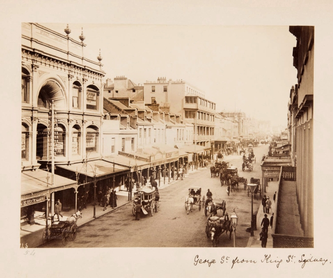 Unknown photographer. 'George St. from King St., Sydney' Nd