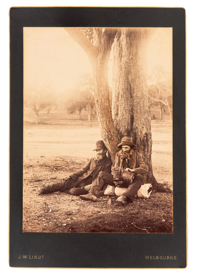 J. W. Lindt. 'Untitled [Two men in rural Victoria]' c. 1880s