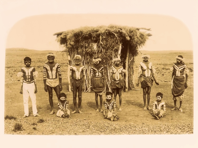 Unknown photographer. 'Untitled [Aboriginal ceremony]' c. 1892