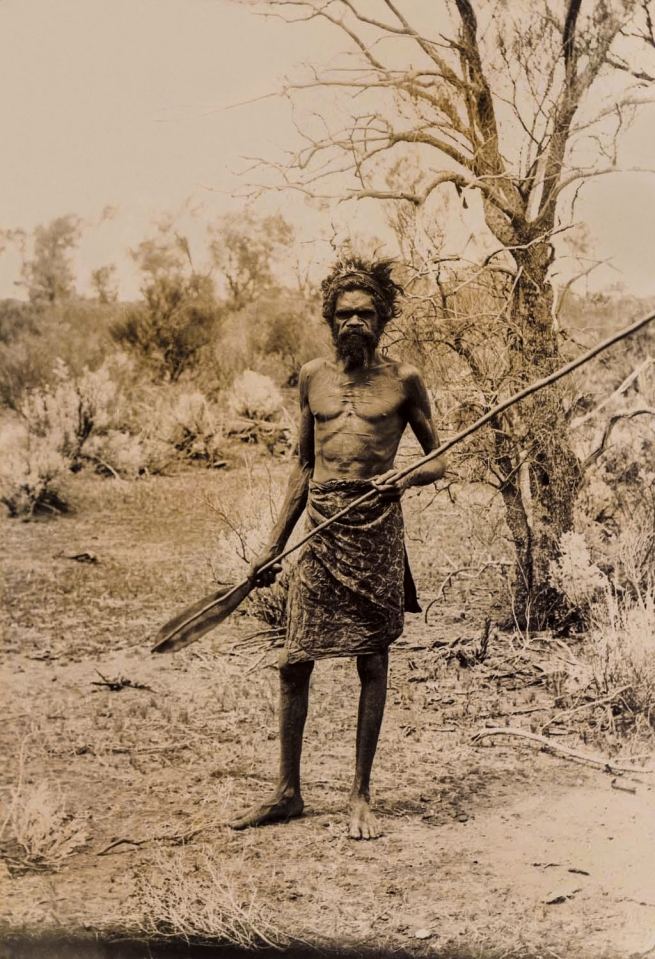 Anonymous photographer. 'Untitled [Aboriginal with spear]' Nd