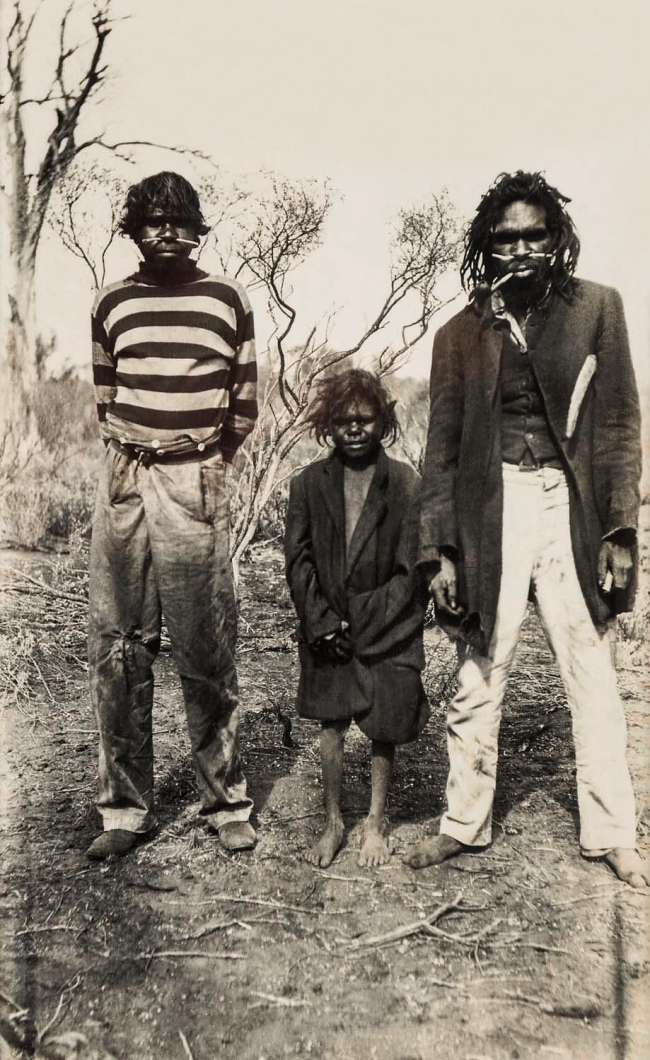 Unknown photographer. 'Untitled [Aboriginal man smoking a pipe]' Nd