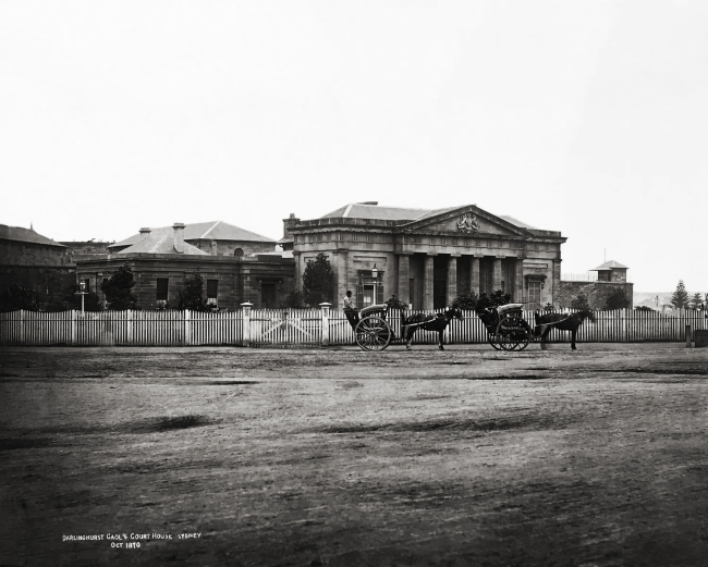 Unknown photographer. 'Darlinghurst Gaol & Court House, Sydney Oct. 1870' 1870