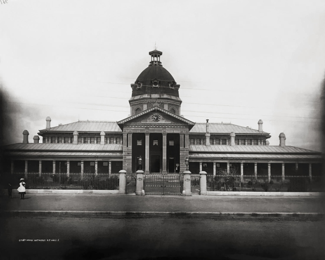 Unknown photographer. 'Court House Bathurst N S Wales, Courthouses of New South Wales' c. 1870-80s