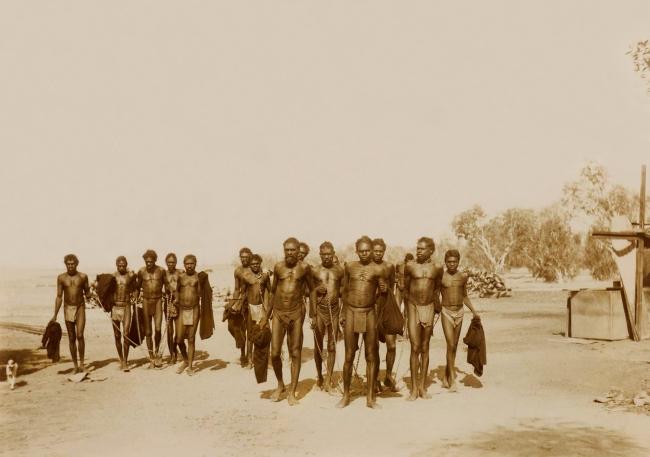 Unknown photographer. 'Untitled [Australian Aborigines in chains]' Nd