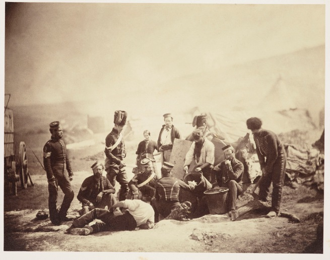 Roger Fenton (1819-69) 'Cooking house, 8th Hussars' 1855